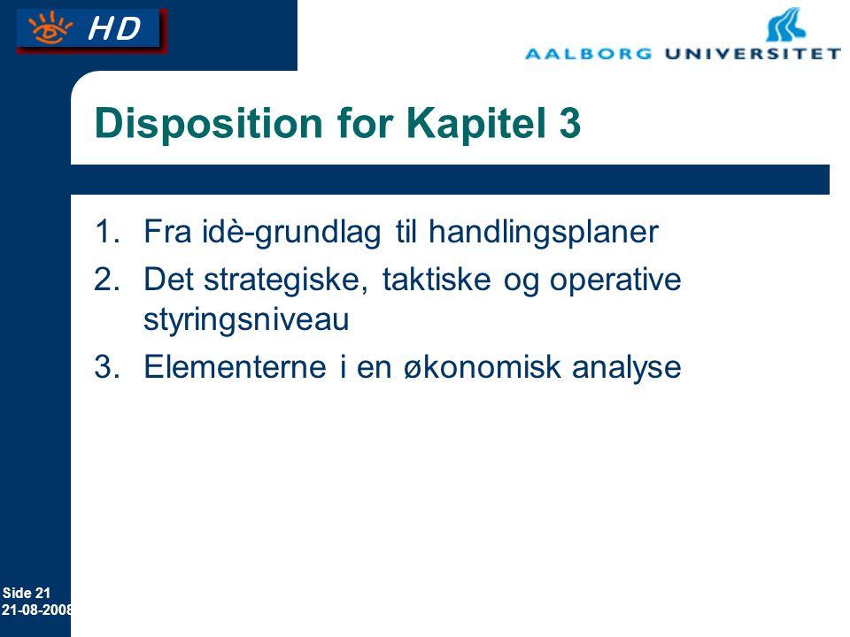 Disposition for Kapitel 3