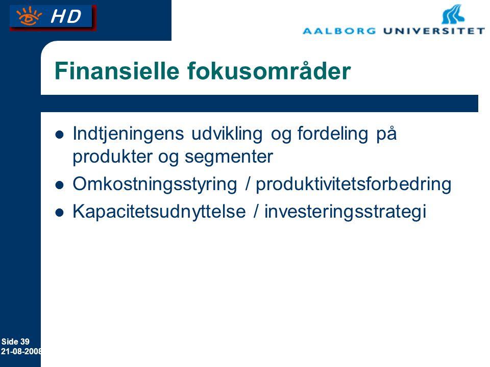 Finansielle fokusområder