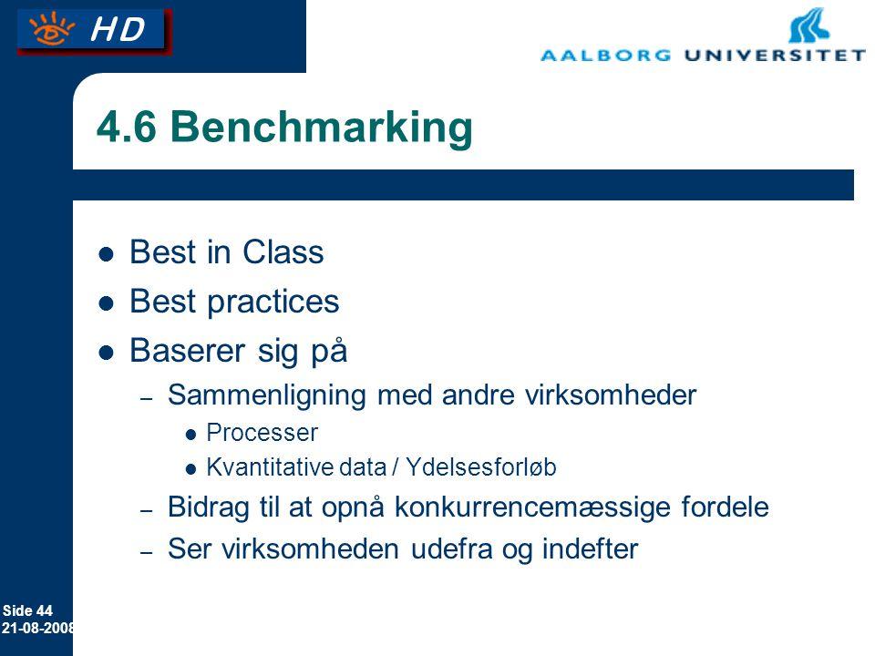4.6 Benchmarking Best in Class Best practices Baserer sig på