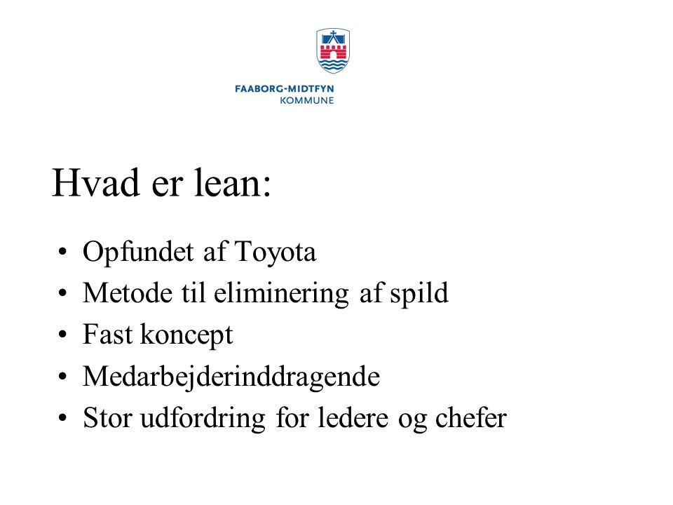 Hvad er lean: Opfundet af Toyota Metode til eliminering af spild