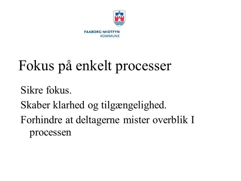 Fokus på enkelt processer