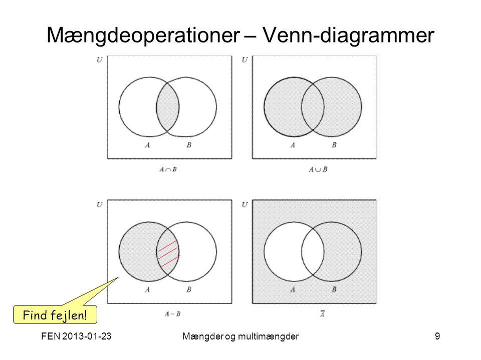 Mængdeoperationer – Venn-diagrammer