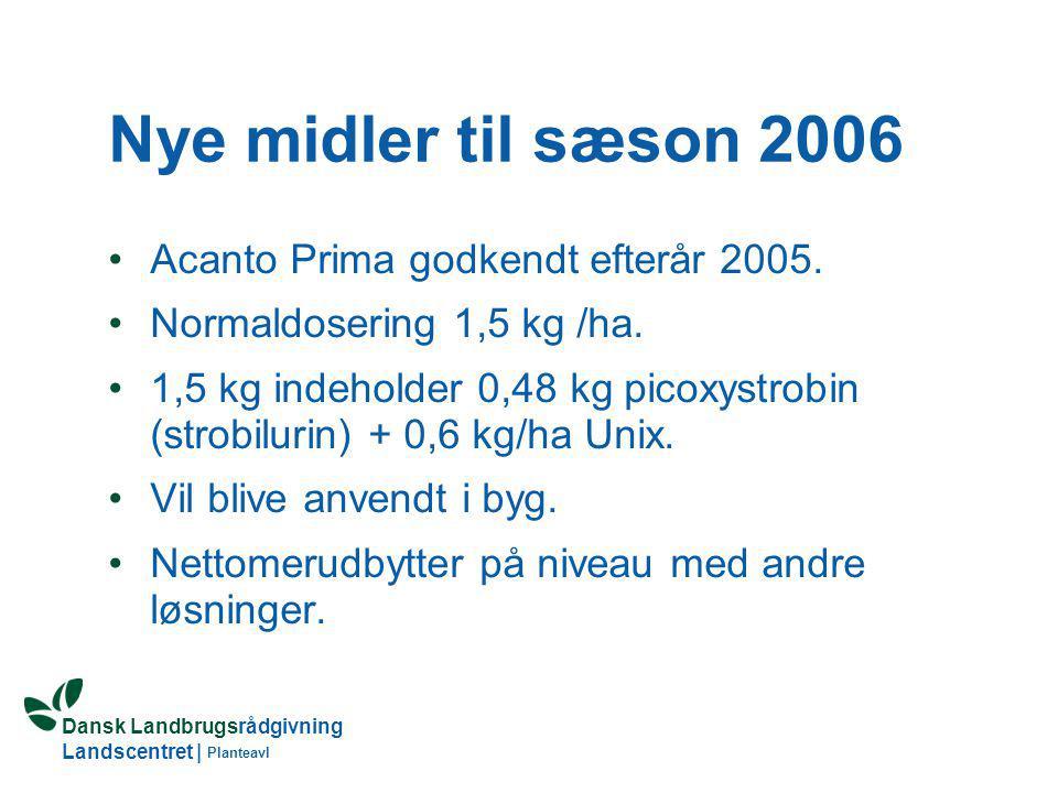 Nye midler til sæson 2006 Acanto Prima godkendt efterår 2005.
