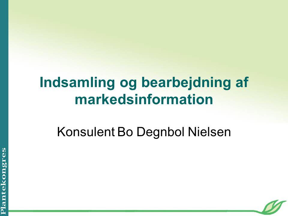 Indsamling og bearbejdning af markedsinformation