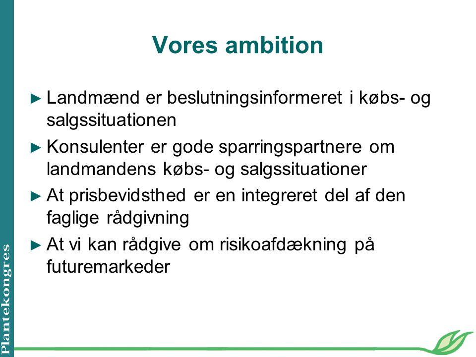 Vores ambition Landmænd er beslutningsinformeret i købs- og salgssituationen.