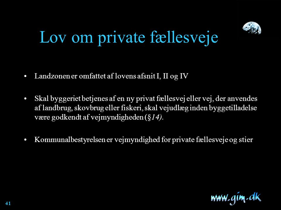 Lov om private fællesveje