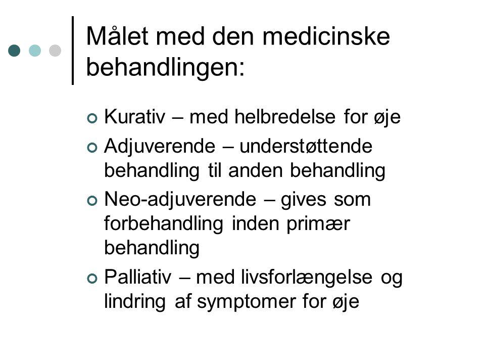 Målet med den medicinske behandlingen: