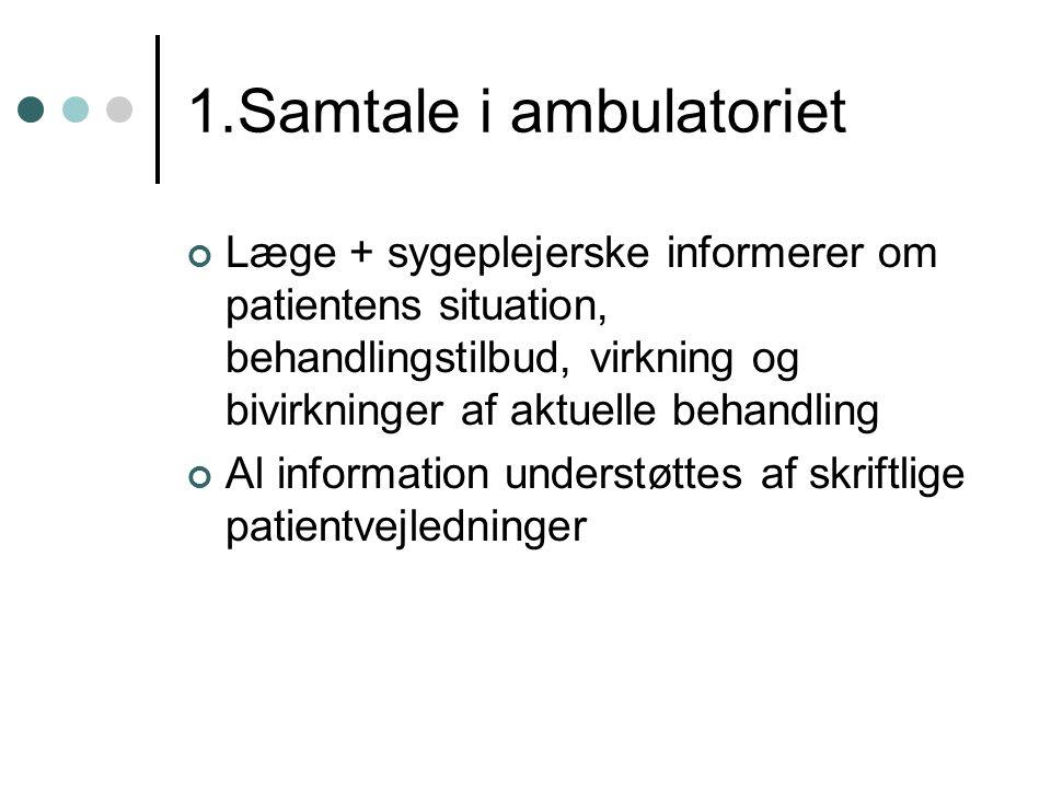 1.Samtale i ambulatoriet