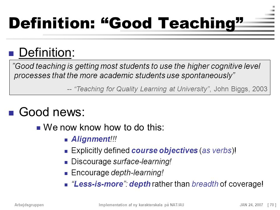 Definition: Good Teaching