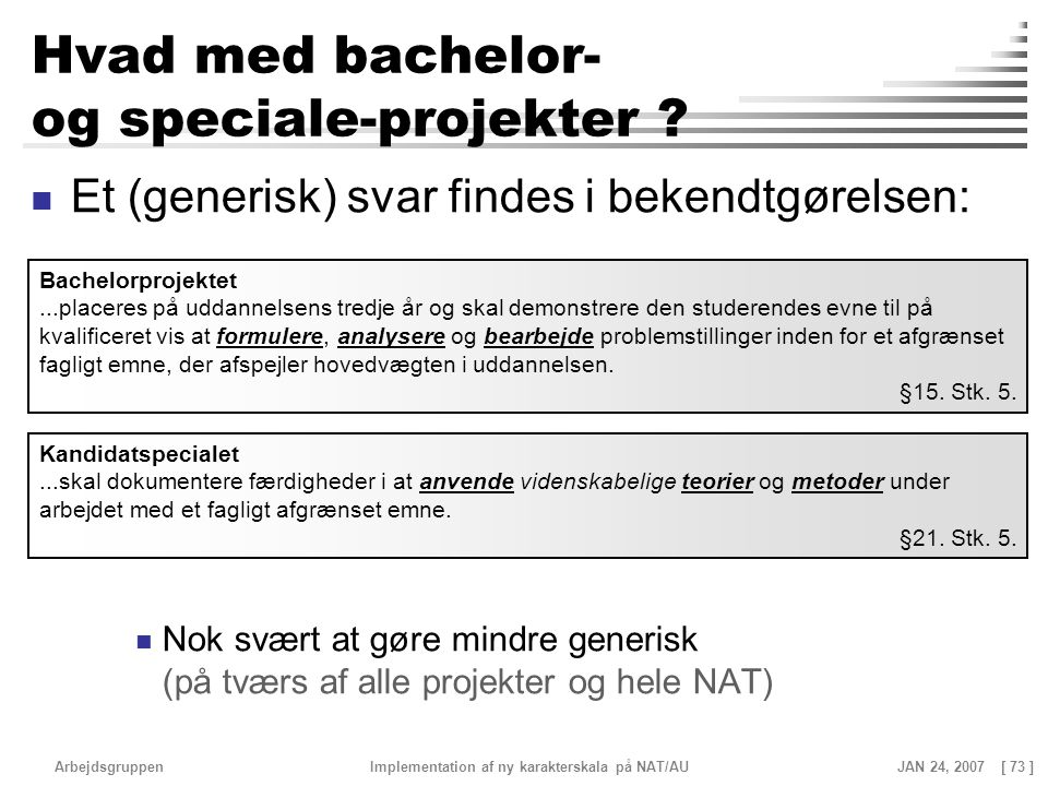 Hvad med bachelor- og speciale-projekter
