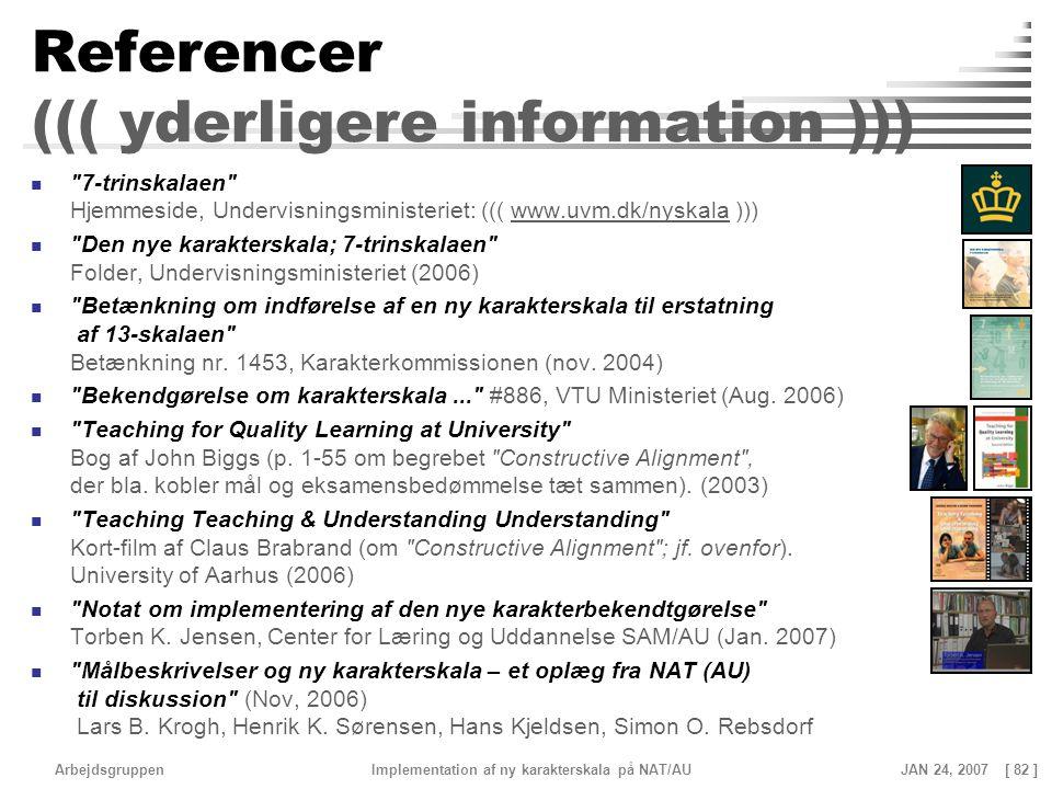 Referencer ((( yderligere information )))