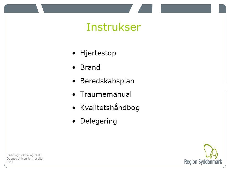 Instrukser Hjertestop Brand Beredskabsplan Traumemanual