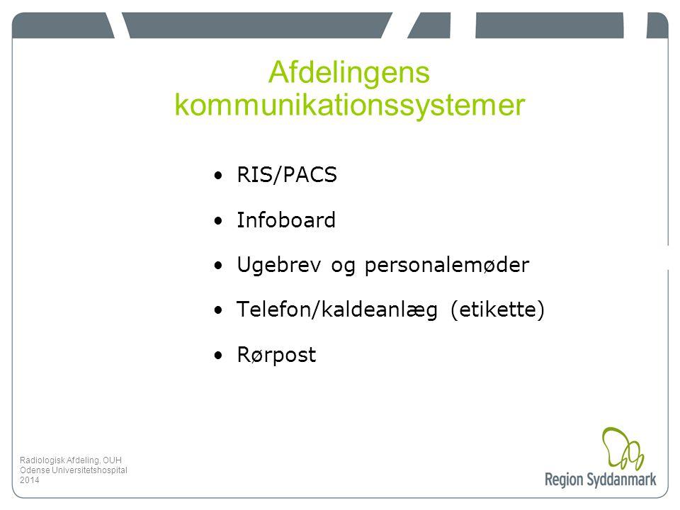 Afdelingens kommunikationssystemer