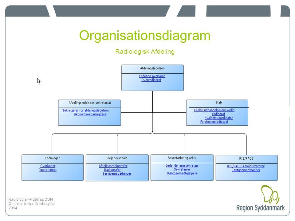 Organisationsdiagram Radiologisk Afdeling