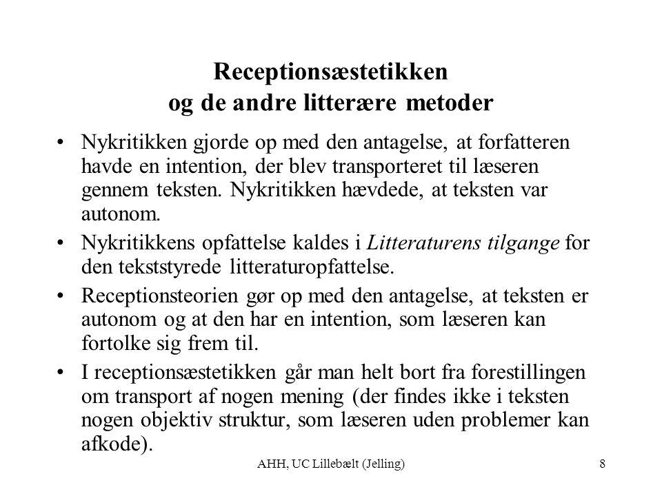 Receptionsæstetikken og de andre litterære metoder