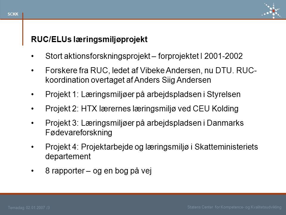 RUC/ELUs læringsmiljøprojekt