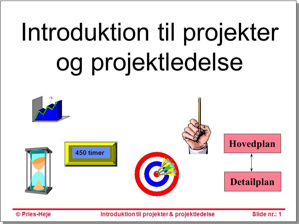 Introduktion til projekter og projektledelse
