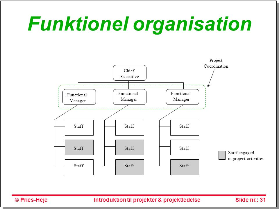 Funktionel organisation