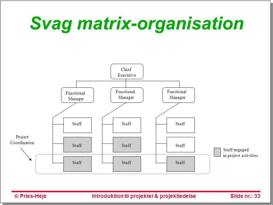 Svag matrix-organisation