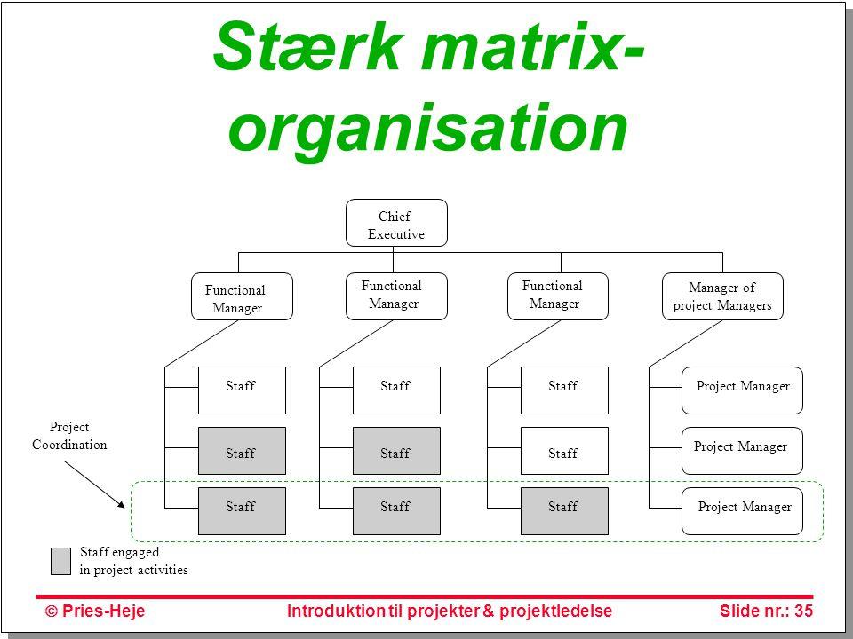 Stærk matrix-organisation