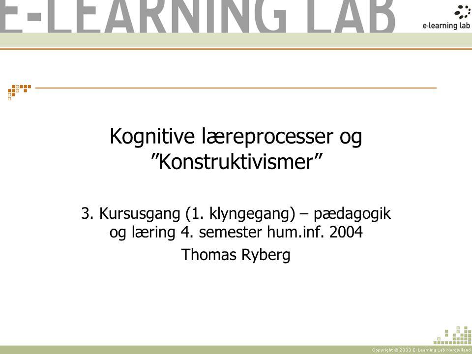 Kognitive læreprocesser og Konstruktivismer