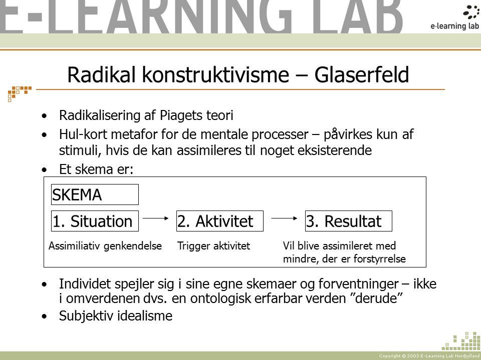 Radikal konstruktivisme – Glaserfeld