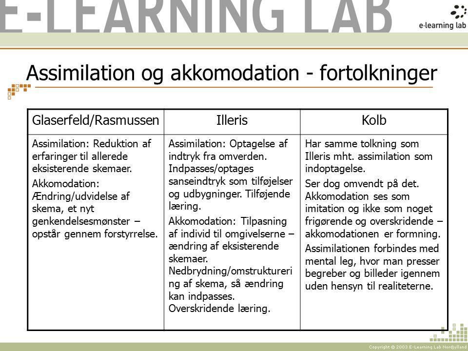 Assimilation og akkomodation - fortolkninger