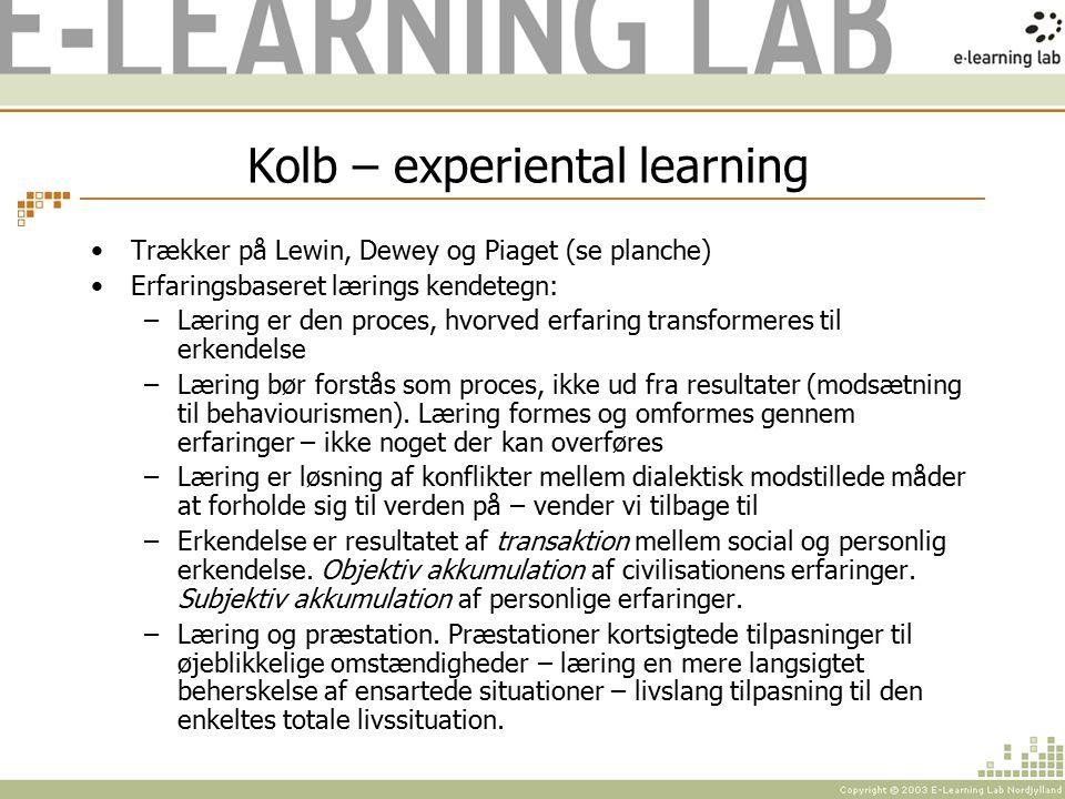 Kolb – experiental learning