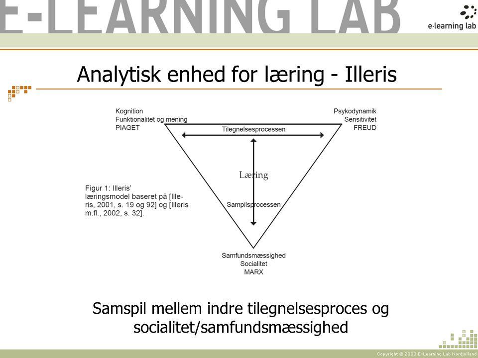 Analytisk enhed for læring - Illeris