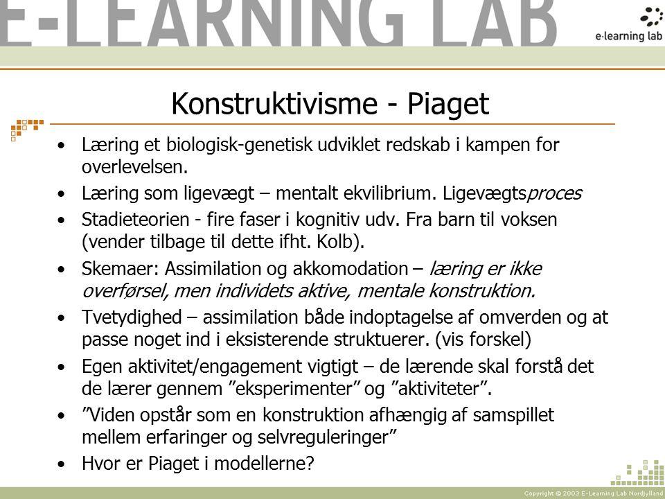Konstruktivisme - Piaget