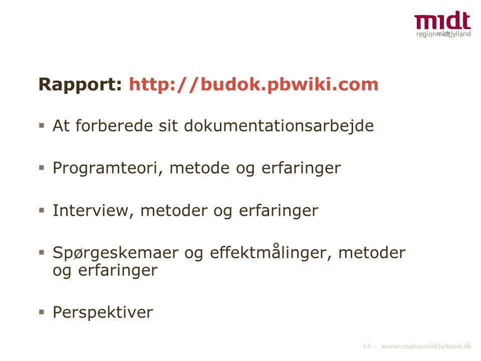 Rapport: http://budok.pbwiki.com