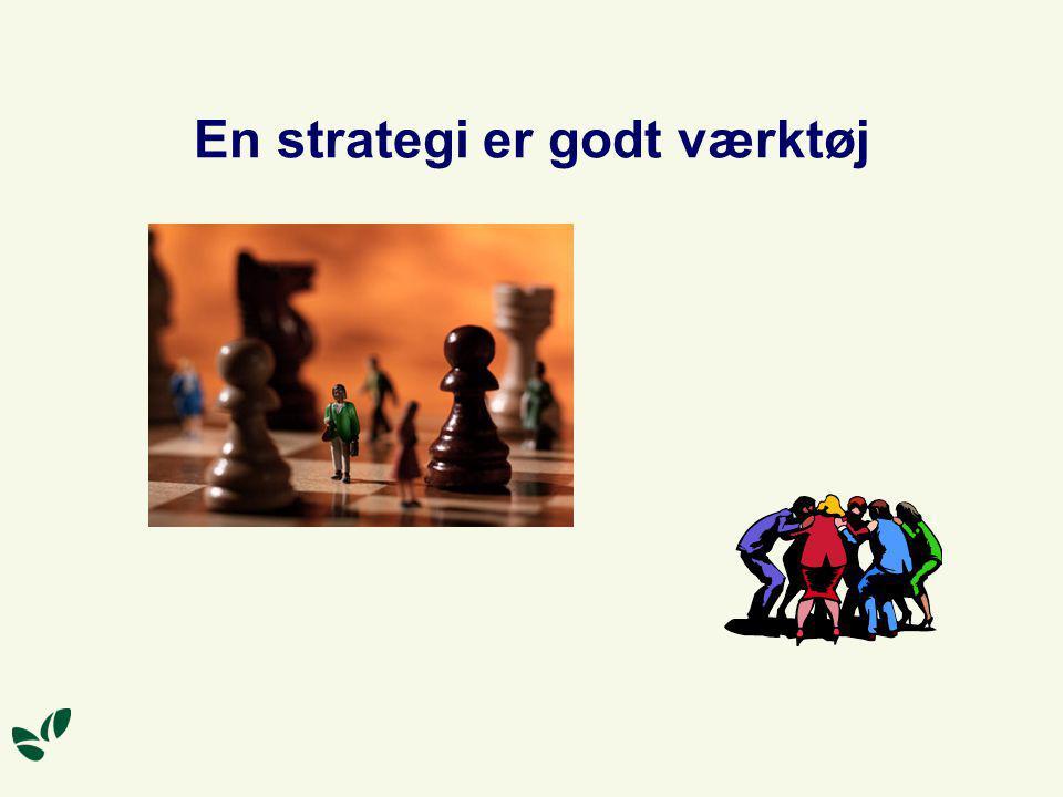 En strategi er godt værktøj