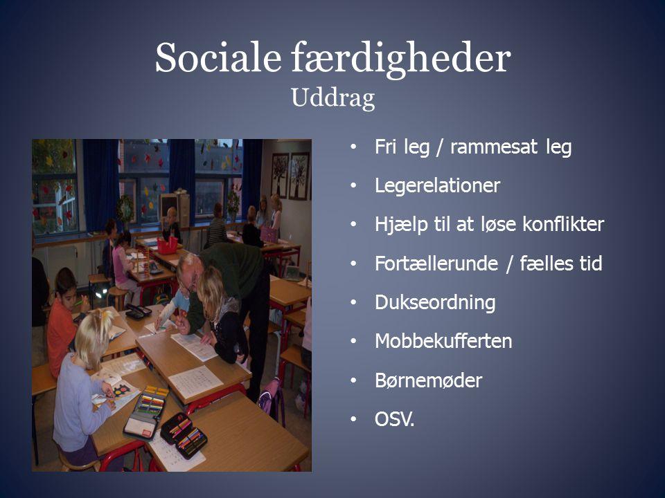 Sociale færdigheder Uddrag