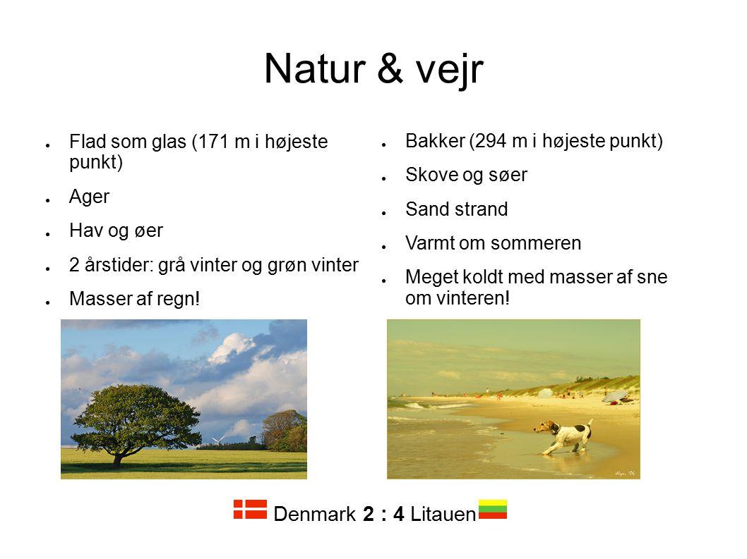 Natur & vejr Denmark 2 : 4 Litauen