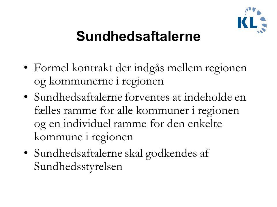 Sundhedsaftalerne Formel kontrakt der indgås mellem regionen og kommunerne i regionen.