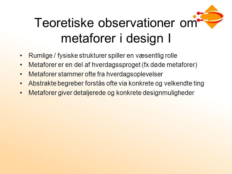 Teoretiske observationer om metaforer i design I