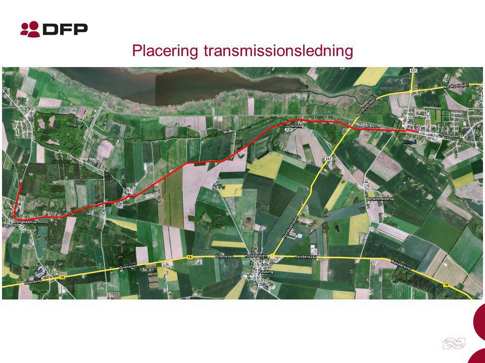 Placering transmissionsledning