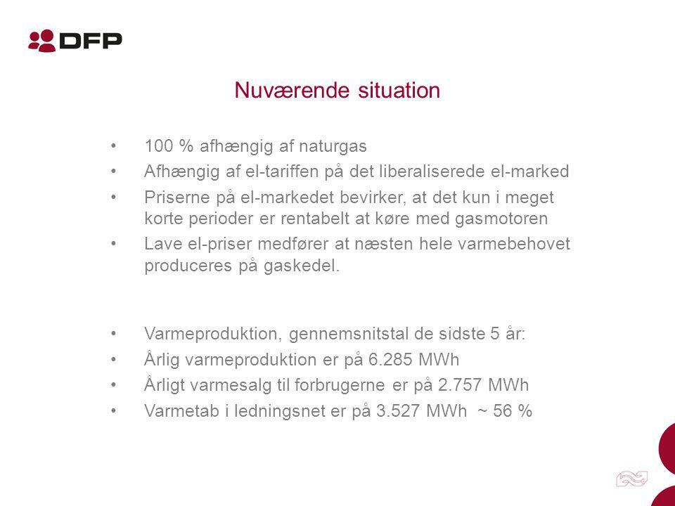 Nuværende situation 100 % afhængig af naturgas