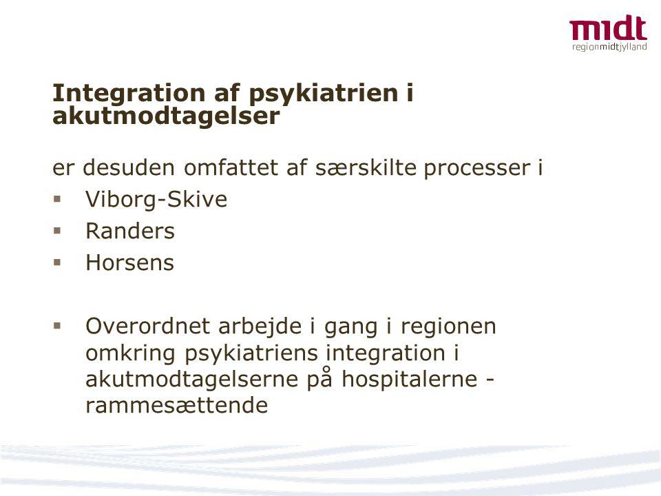 Integration af psykiatrien i akutmodtagelser