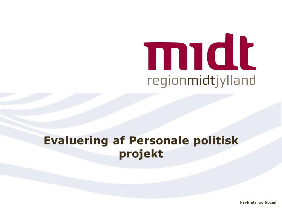 Evaluering af Personale politisk projekt