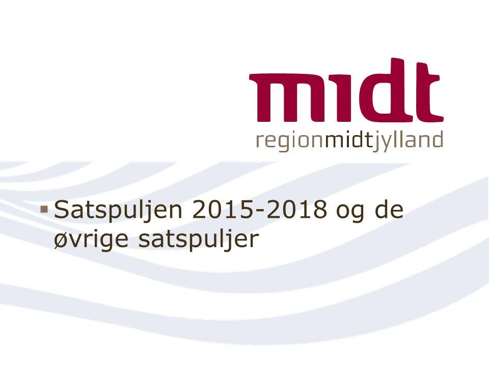 Satspuljen 2015-2018 og de øvrige satspuljer