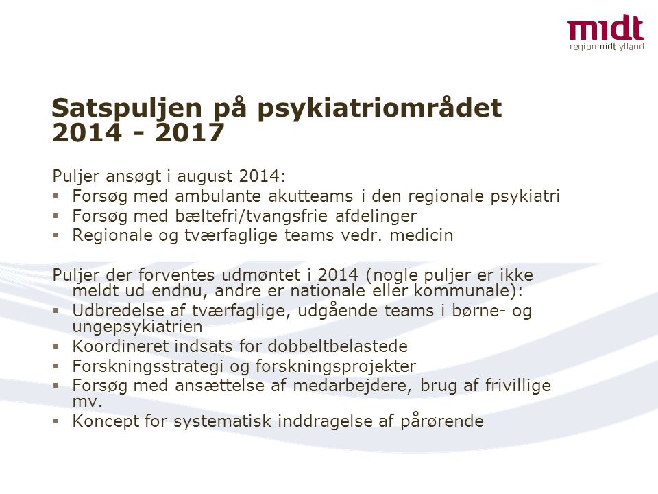Satspuljen på psykiatriområdet 2014 - 2017