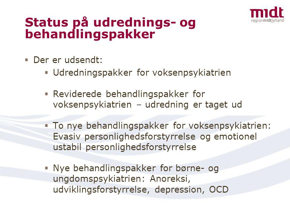 Status på udrednings- og behandlingspakker