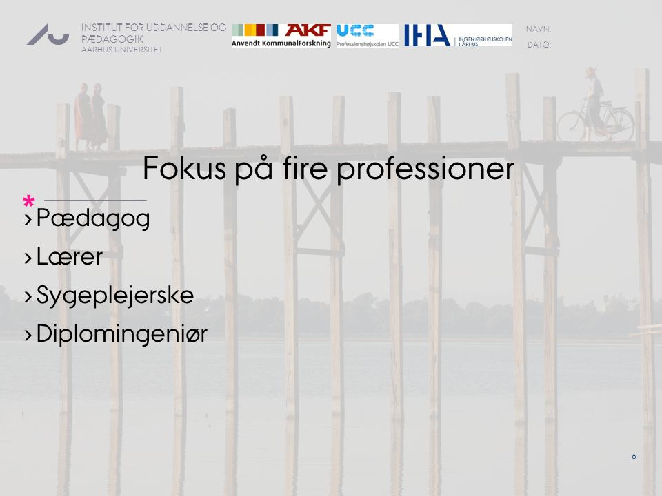 Fokus på fire professioner