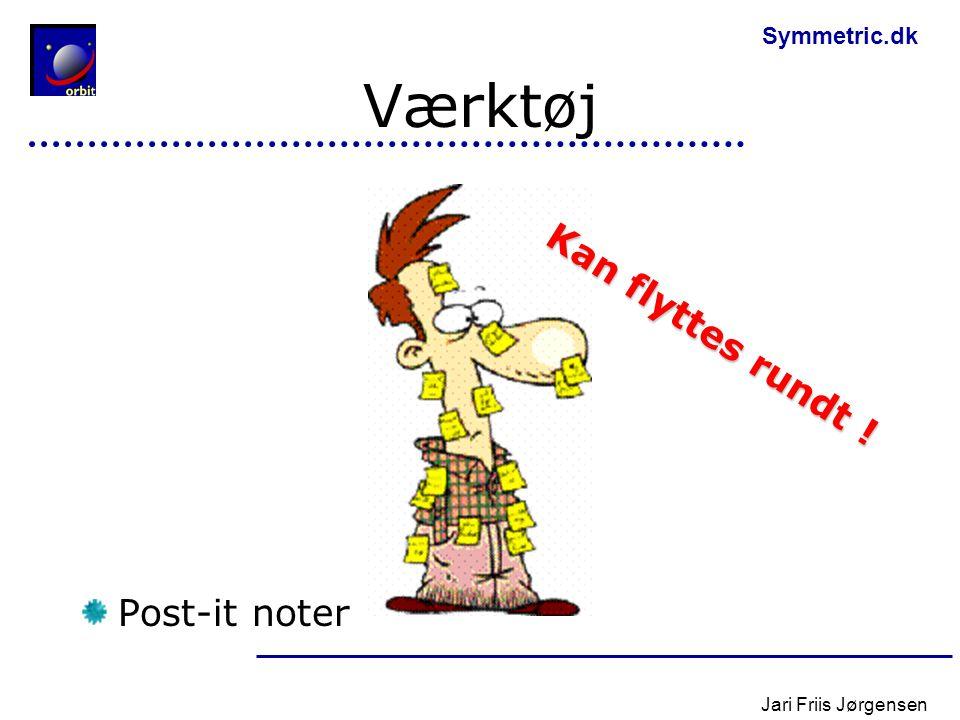 Værktøj Kan flyttes rundt ! Post-it noter Jari Friis Jørgensen
