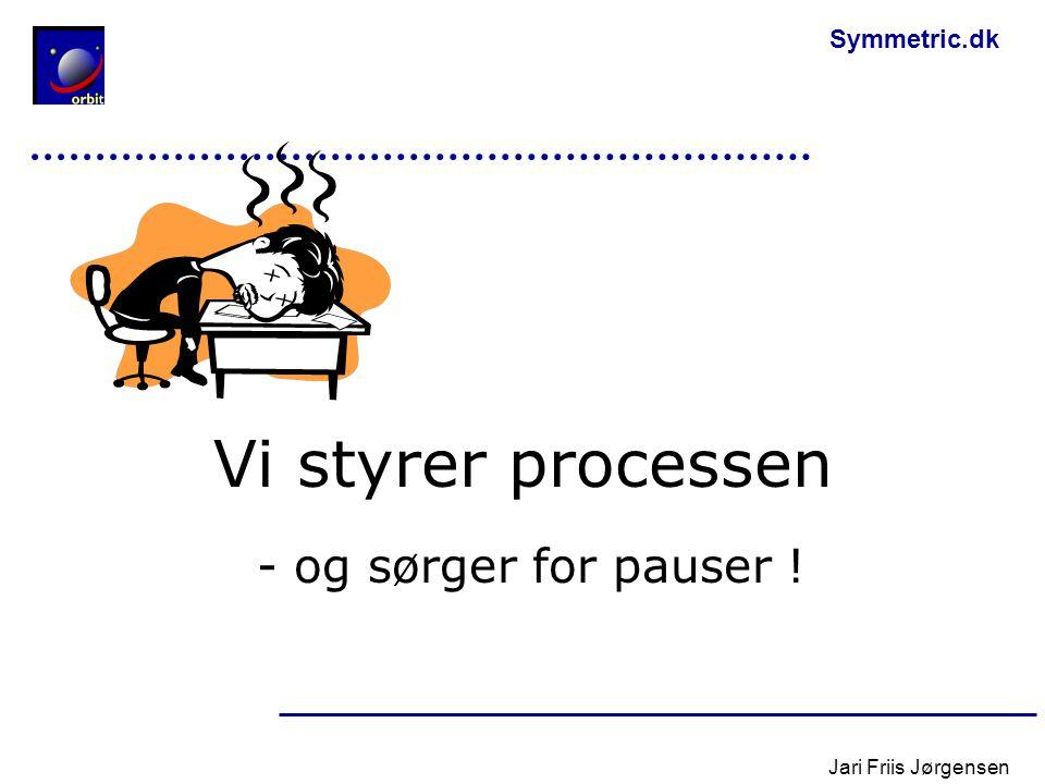 Vi styrer processen - og sørger for pauser ! Jari Friis Jørgensen