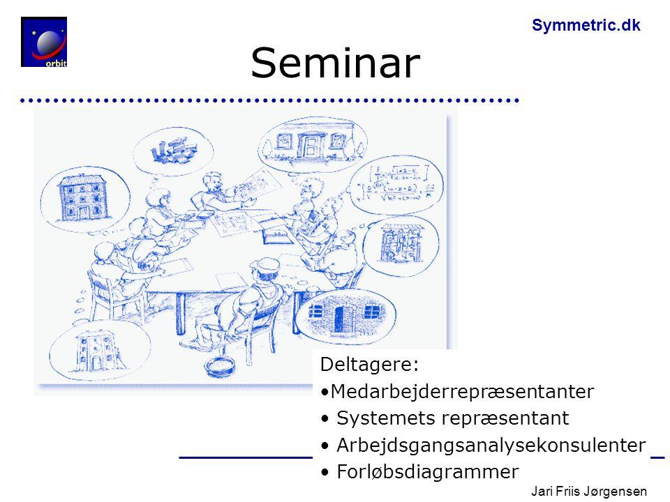 Seminar Deltagere: Medarbejderrepræsentanter Systemets repræsentant