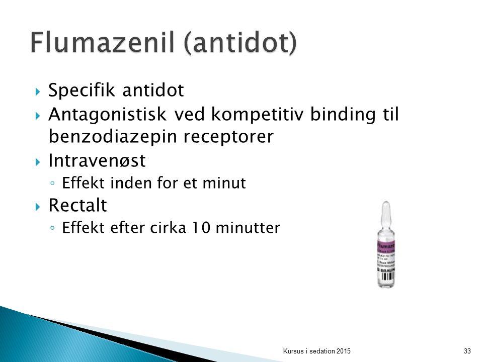 Flumazenil (antidot) Specifik antidot