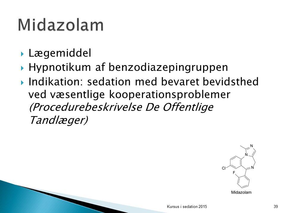 Midazolam Lægemiddel Hypnotikum af benzodiazepingruppen