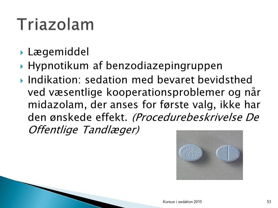 Triazolam Lægemiddel Hypnotikum af benzodiazepingruppen